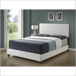 Monarch Queen Size Platform Bed in White