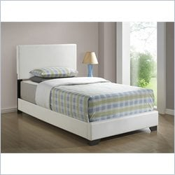 Monarch Twin Size Platform Bed in White