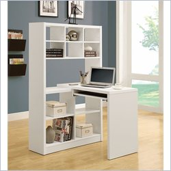 Monarch Hollow-Core Left and Right Facing Corner Desk in White