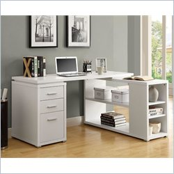 Monarch L Shaped Computer Desk in White
