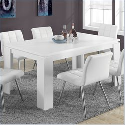 Monarch Hollow-Core Dining Table in White