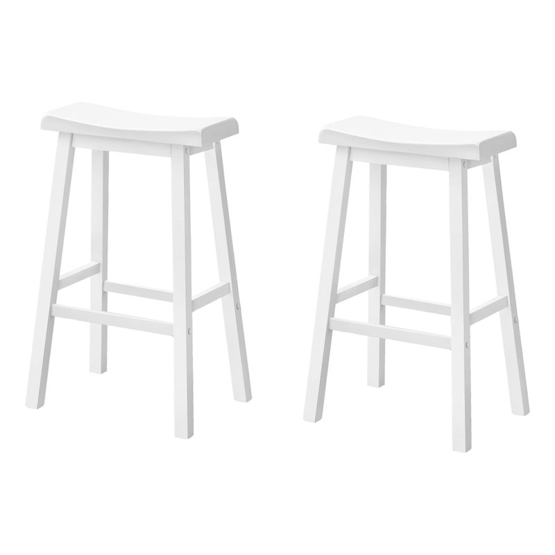 Square Rush 24 Quot Stationary Counter Stool In White 94324