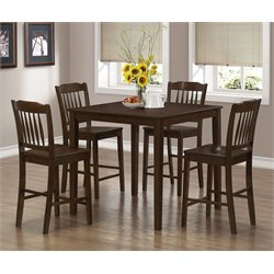 5 Piece Dining Set in Cappuccino