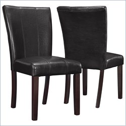 Monarch 2 Piece Parson Chair in Dark Brown
