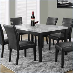Monarch Dining Table in Gray and Charcoal