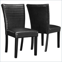 Monarch 2 Piece Parson Chair in Black