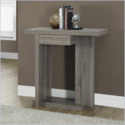 Monarch 32 inch Console Accent Table in Dark Taupe