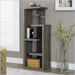 Monarch 48 inch Accent Display Unit in Dark Taupe