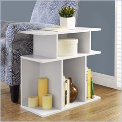 Monarch 24 inch Accent Side Table in White