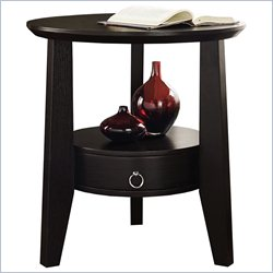 Monarch Accent Table in Cappuccino with Drawer
