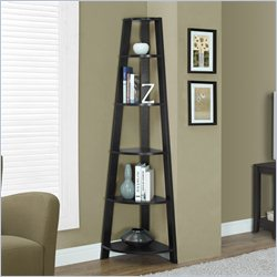 Monarch Corner Accent Etagere in Cappuccino