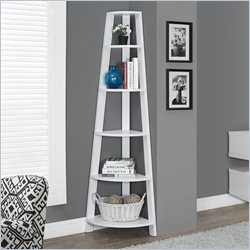 Monarch Corner Accent Etagere in White