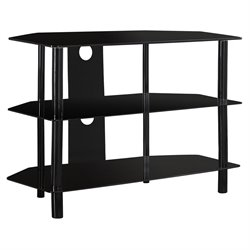 Monarch TV Stand in Black with Tempered Glass