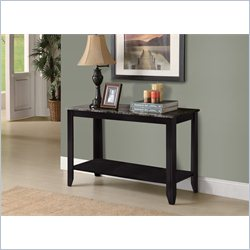 Monarch Sofa Console Table in Black and Gray