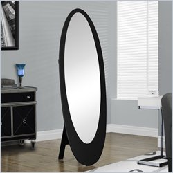 Monarch Oval Cheval Mirror in Black
