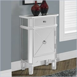 Monarch Accent Cabinet in Satin White with 1 Drawer