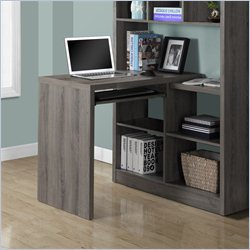 Monarch Corner Desk in Dark Taupe