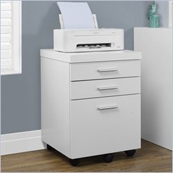 Monarch Hollow-core File Cabinet with Three Drawers in White