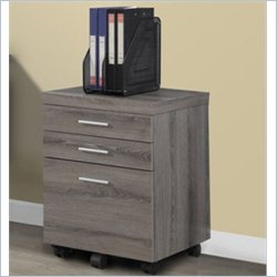 Monarch File Cabinet in Dark Taupe