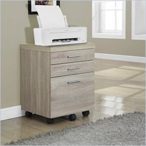 File Cabinet with Three Drawers in Natural