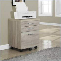 Monarch File Cabinet with Three Drawers in Natural