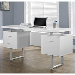 Monarch Hollow-core 60 inch Office Desk in White