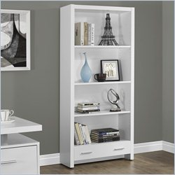 Monarch Hollow-core 71 inch Bookcase in White