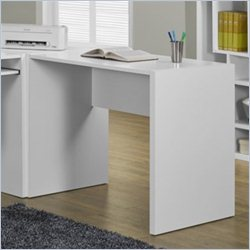 Monarch Computer Desk in White