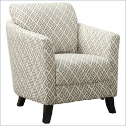 Curved Back Accent Chair in Sandstone and Gray