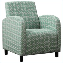 Monarch Fabric Accent Chair in Green