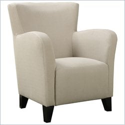 Monarch Fabric Club Chair in Ivory