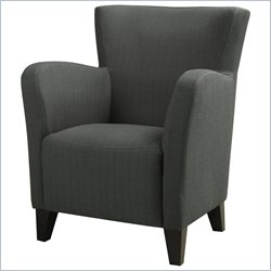 Monarch Fabric Club Chair in Gray