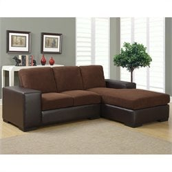 Monarch Sofa Lounger in Brown