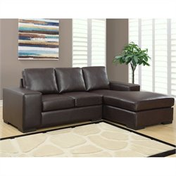 Monarch Sofa Lounger in Dark Brown