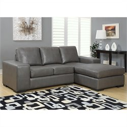 Monarch Sofa Lounger in Charcoal Gray