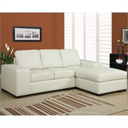 Monarch Sofa Lounger in Ivory