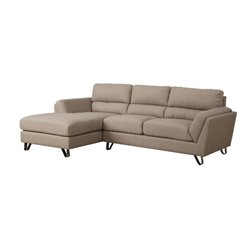 Linen Sofa Lounger in Brown