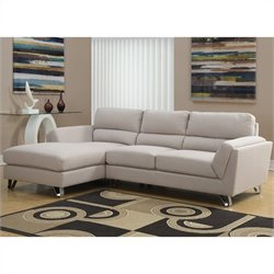 Monarch Linen Sofa Lounger in Sand