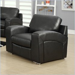 Monarch Bonded Leather Chair in Black