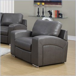 Monarch Bonded Leather Chair in Gray