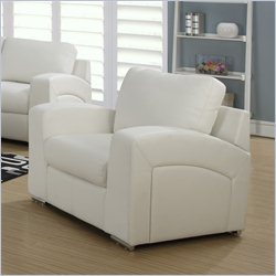 Monarch Bonded Leather Chair in White