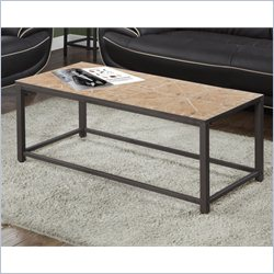Monarch Cocktail Table in Hammered Brown