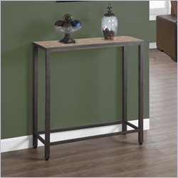 Monarch Sofa Console Table in Hammered Brown