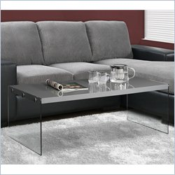 Monarch Hollow Core Cocktail Table in Glossy Gray