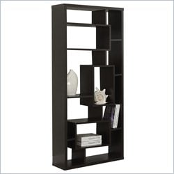 Monarch 72 inch Hollow Core Bookcase in Cappuccino