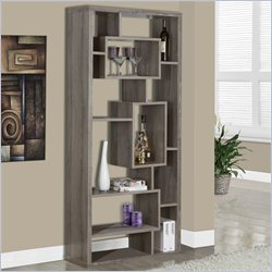 Monarch 72 inch Bookcase in Dark Taupe