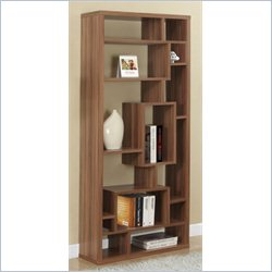 Monarch 72 inch Hollow Core Bookcase in Walnut