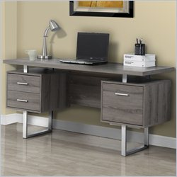 Monarch 60 inch Hollow Core Office Desk in Dark Taupe