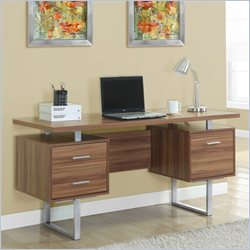 Monarch 60 inch Hollow Core Office Desk in Walnut