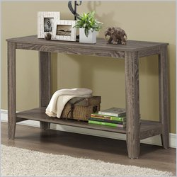 Monarch Sofa Console Table in Dark Taupe